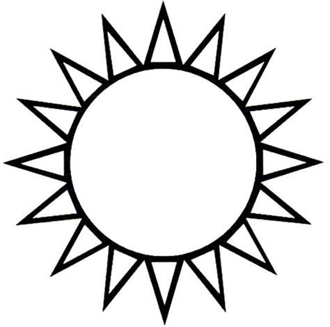 Dibujos para colorear del SOL