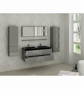 Salle De Bain Cosy : meuble passion 5 vasque noire 120 47 54 cm cosy ~ Dailycaller-alerts.com Idées de Décoration