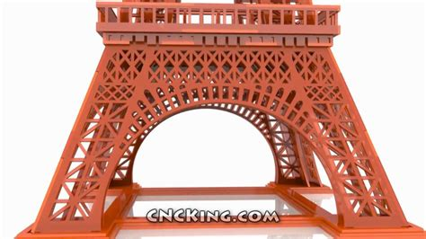 laser cut eiffel tower  assembly animation hd