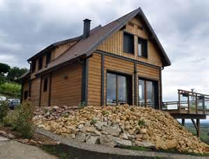 grande maison bois style chalet nos maisons ossatures bois