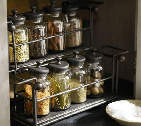 Pottery Barn Spice Rack by Counter Spice Rack Jars Pottery Barn Kitchen