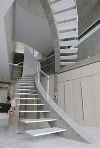 Hauseingang Treppe Modern : schwebende treppen weiss beton konstruktion wendeltreppe kind modern haus staircase treppe ~ Yasmunasinghe.com Haus und Dekorationen