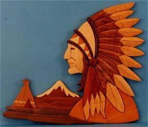 native american chief intarsia pattern scrollsawcom