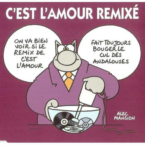 c est l amour remix 233 pochette de philippe geluck quot le chat