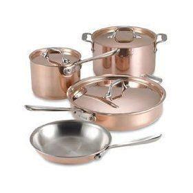 clad   chef  piece cookware set review copper kitchen accessories cookware set