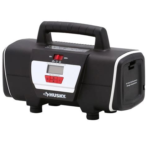 Husky 12 Volt/120 Volt Home and Auto Inflator HD12120