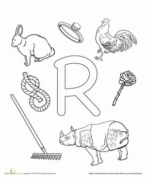 r is for worksheet education 109   the alphabet letter r preschool
