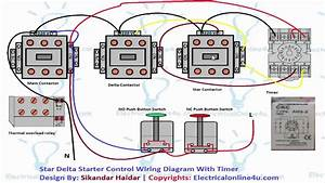 Star Delta Starter Wiring Diagram 3 Phase  For Motor And Control Circuit  In Urdu  Hindi