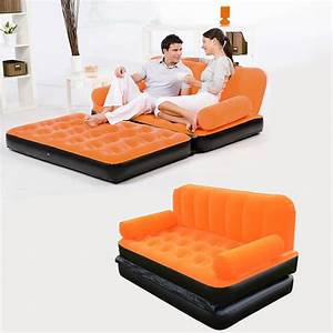 inflatable pull out sofa couch full double air bed With pull out sofa bed air mattress