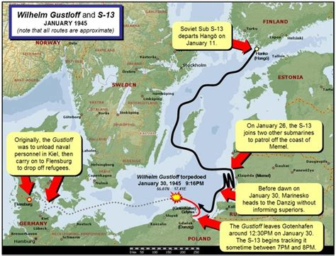 Where Did The Lusitania Sink Map by World War Ii In Pictures Sinking Of The Wilhelm Gustloff