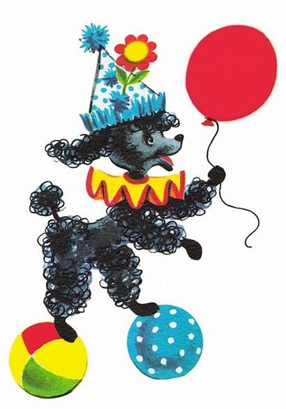 Poodle Clipart Clip Birthday Cliparts Party Happy