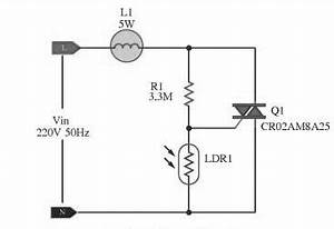 automatic lamp dimmer circuit using triac autos With triacs and diacs