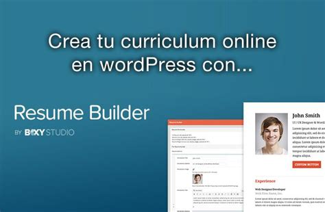 Crear Tu Curriculum Online Con Wordpress Y Resume Builder. Resume Summary Examples For It Professionals. Sample Letter Of Resignation In Tagalog. Cover Letter Administrative Assistant Australia. Cover Letter For Hr Administrative Assistant Position. Letter Of Intent Sample Canada. Curriculum Vitae For English Teacher. Resume For Teacher Job Doc. Resume For Teacher Vacancy