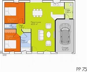 plan maison 2 chambres gratuit With plan maison plain pied 2 chambres gratuit
