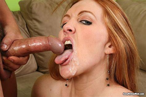 Hot Busty Stepmom Slut Sucking Her Stepsons Big Hard Cock