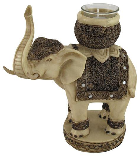 elephant candle holder antiqued finish elephant tealight votive candle holder