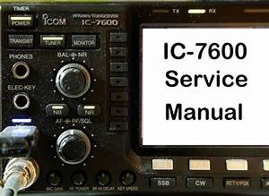Icom Microphone Wiring Diagram : icom ic 7600 service manual and addendum cdrom pdf ebay ~ A.2002-acura-tl-radio.info Haus und Dekorationen
