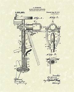Evinrude Boat Motor 1911 Patent Art Drawing By Prior Art