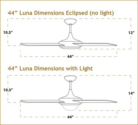 how to measure ceiling fan blades 44 inch luna modern ceiling fan pure white
