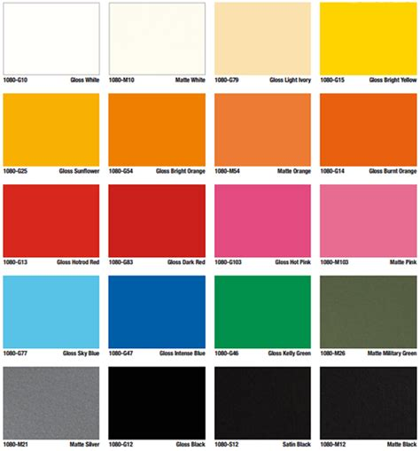 color types color options types for vinyl vehicle wraps
