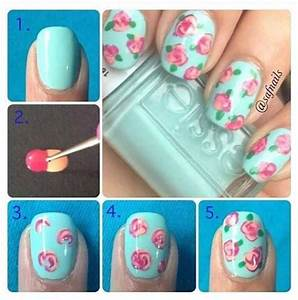 How to make roses on nails diy nail art alldaychic