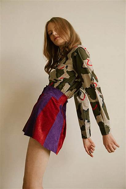 70s Summer Groupie Skirt Retro Camouflage Daisy