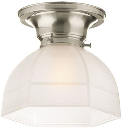 kitchen light fixtures flush mount laurel classic flush ceiling fixture with hexagonal shade 8323