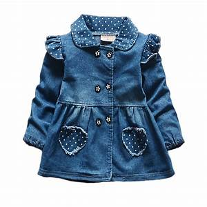 2016 New Autumn Spring Baby Outerwear Long Sleeve Denim Jacket For Girls Lovely Baby Girls ...