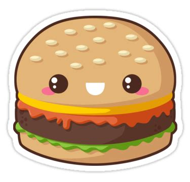 quot kawaii cheeseburger quot stickers by pai thagoras redbubble