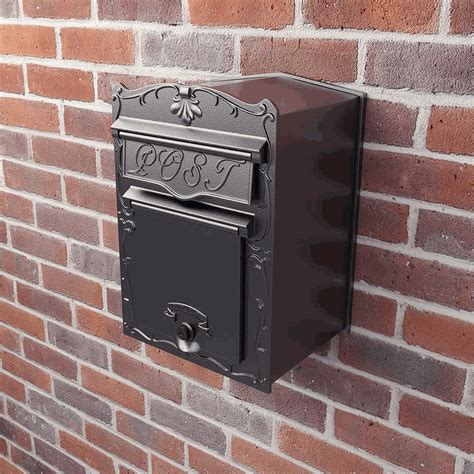 wall mount mailbox kingsbury front access collection column mailbox 4612