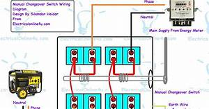 Wiring Diagram Changeover Switch Generator