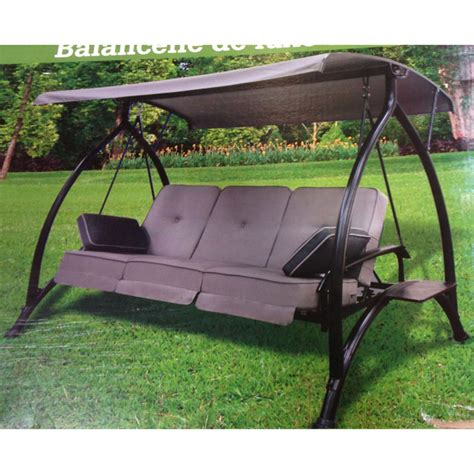 patio swings with canopy canada replacement canopy for costco lounge swing garden winds canada
