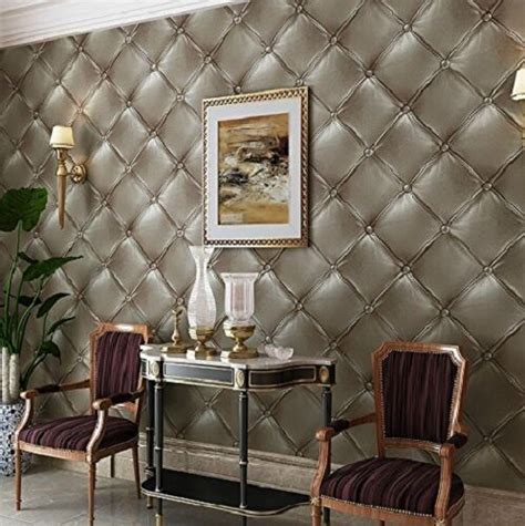 removable textured wallpaper vinyl leather   art pattern