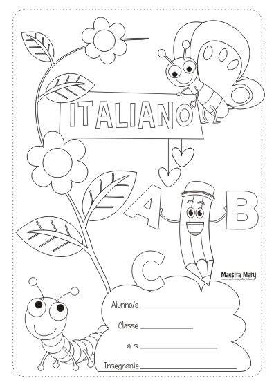 schede inglese prima elementare da stare copertine per quaderni di scuola primaria maestra