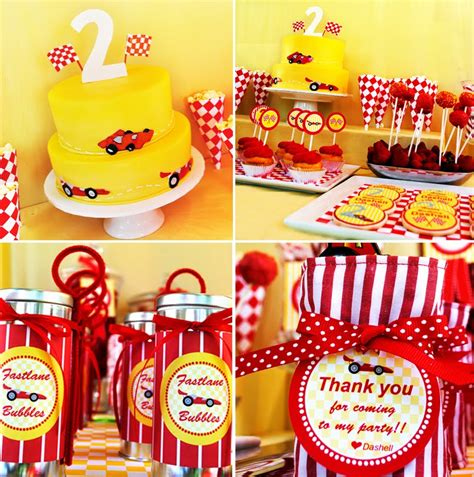 stylish childrens parties race car birthday party