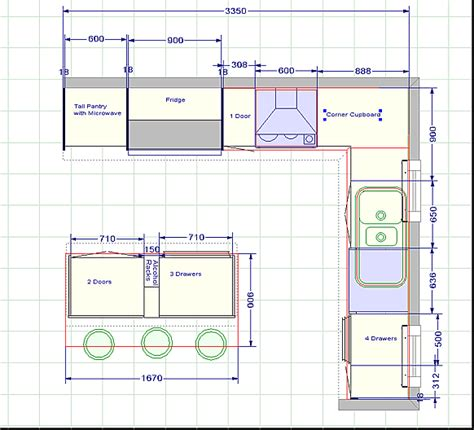 kitchen floor plans by size kitchen blueprints floor plan the challenger 2 kitchen 8074