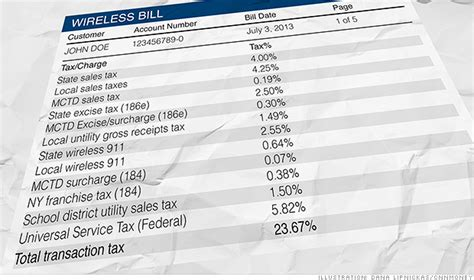 cell phone bill the 17 tax your cell phone bill cnnmoney