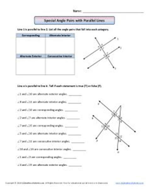 parallel lines and transversals worksheet using properties