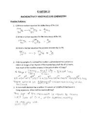 Radioactivity And Nuclear Chemistry Worksheet  Problems Associated With Nuclear Power Include
