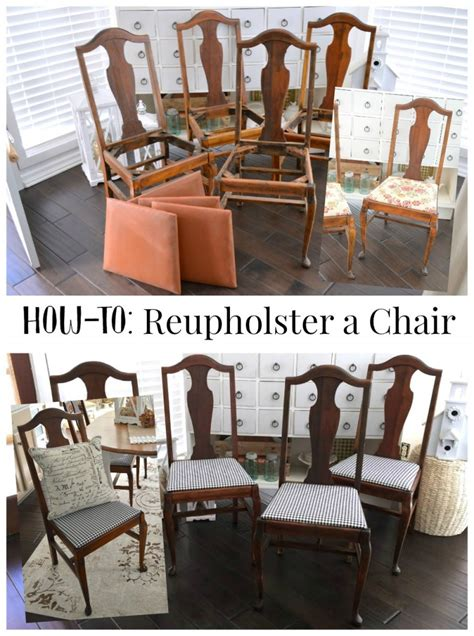 How To Reupholster A Chair by How To Easy Chair Reupholstery Tutorial