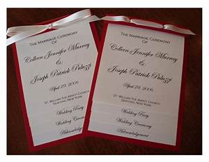 Wedding Collection Nowadays  Wedding Programs Examples