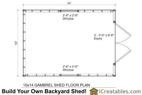 10x14 shed plans with loft 10x14 small barn shed plans gambrel shed plans