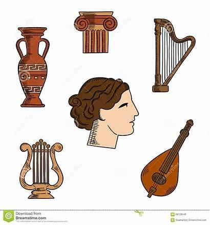 Greek Ancient Symbols Greece Architecture Antique Theater