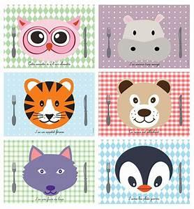 Sets De Table Originaux : kit sets de table animaux set de table enfant kids ~ Voncanada.com Idées de Décoration