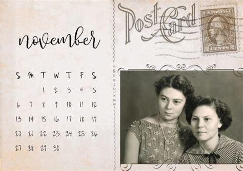 vintage postcard calendar creative calendars