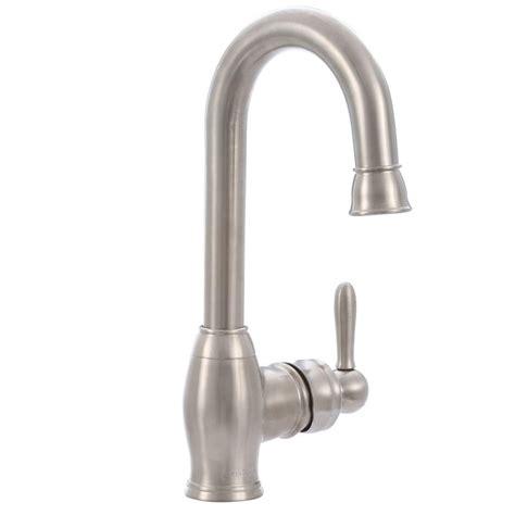 bar faucet brushed nickel pegasus newbury single handle bar faucet in brushed nickel