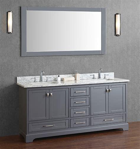 gray double sink vanity anele 72 inch gray double sink bathroom vanity set with mirror
