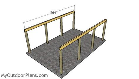 The first thing you need to do when building a carport is create the supports. 16x22 Single Carport Plans | MyOutdoorPlans | Free Woodworking Plans and Projects, DIY Shed ...