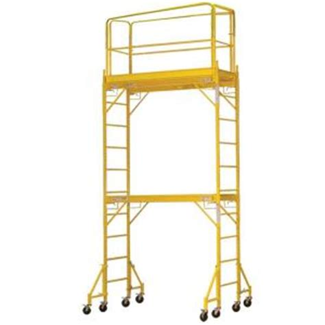 pro series 12 ft 2 story rolling scaffold tower with 1000