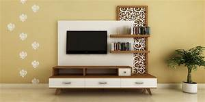 Modern, Ethnic TV Unit with Jaali Design by Intart